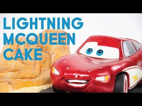 How to Make Disney's Cars Lightning McQueen Cake Tutorial
