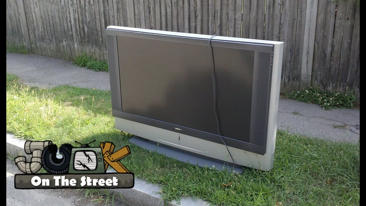 sony kf 50we610 rear projection tv junk on the street youtube. Black Bedroom Furniture Sets. Home Design Ideas
