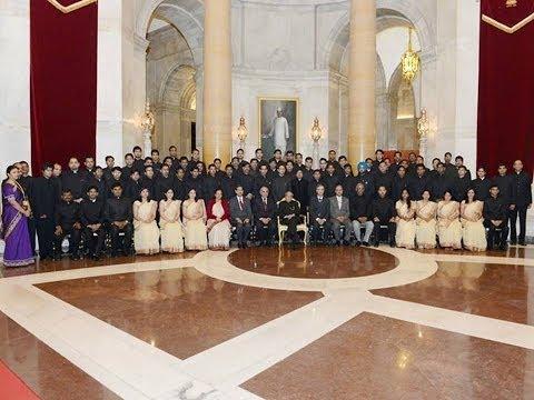 IRAS Probationers with Sh Pranab Mukherjee, Honble' PRESIDENT OF INDIA