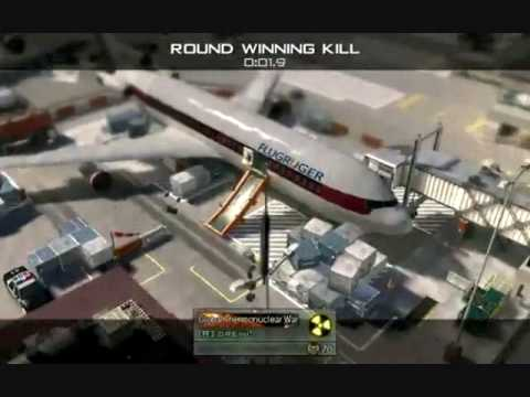 call of duty modren warfare 2 throwing knife kills ( killcam game/round winning kill)