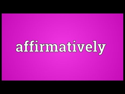 Header of affirmatively