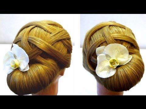 Bridal prom hairstyles. Hair tutorial. Свадебная прическа прическа на выпускной