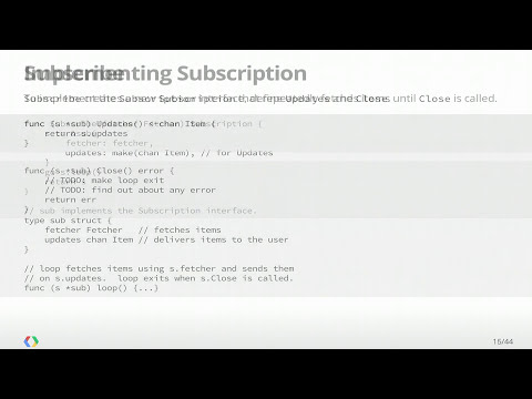Google I/O 2013 - Advanced Go Concurrency Patterns