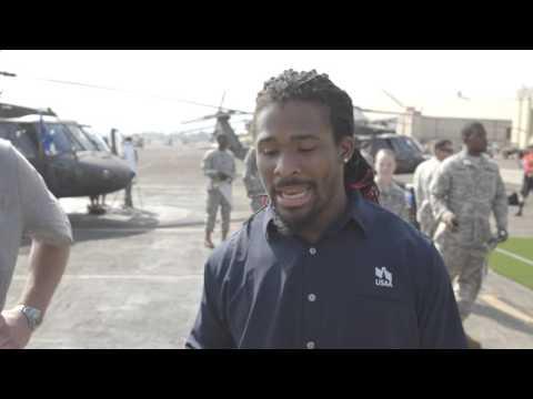 DeAngelo Williams and USAA at the 2016 Pro Bowl Draft presented by USAA