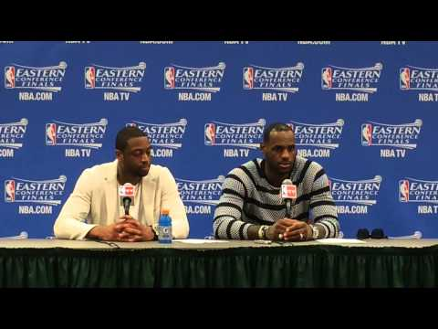 Dwyane Wade, LeBron James speak after Game 2 victory