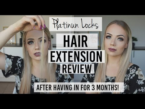 Hair Extensions Review 3 Months in!    Platinum Locks Hair Extensions   Tape & Nano Bead Extensions