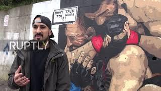 Turkey: 'Don't talk too much '- Turkish graffiti artist paints Khabib's victory over McGregor