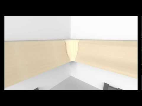 montage der sockelleisten von leiste24 youtube. Black Bedroom Furniture Sets. Home Design Ideas