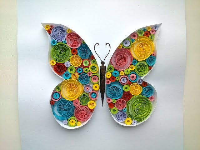 Paper Quilling Butterfly Quilling Tutorial.
