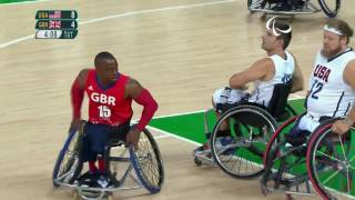 Wheelchair Basketball | USA vs Great Britain | Men's preliminaries | Rio 2016 Paralympic Games