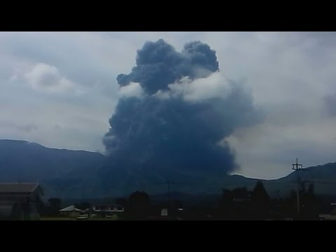 Mount Aso erupts unexpectedly in Japan