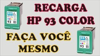Manual de Recarga HP 93 Color Impressoras C3180 C4180 Psc 1510