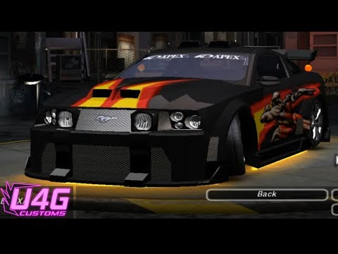 Need For Speed Underground 2 Ford Mustang GT tuning by RASTAKITTEN