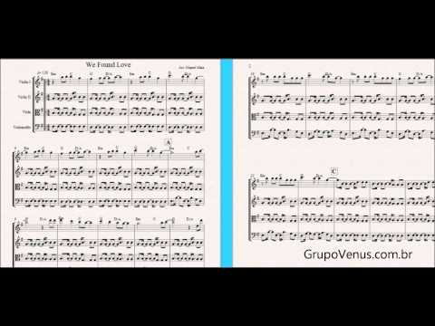 We Found Love Arrangement - Free Sheet Music for Violin and String Quartet - Pia