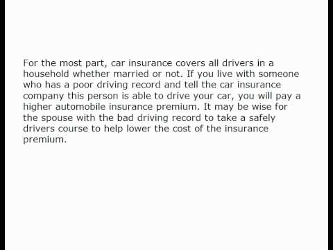 Married Couple Automobile Insurance 695019