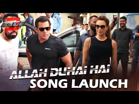 Salman Khan's LADYLOVE Iulia VanturGrand Entry At Allah Duhai Hai Song Launch | RACE 3 | Salman Khan thumbnail