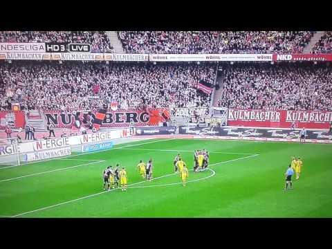 Nürnberg - Dortmund. Marcel Schmelzer 1:0 Freistoß