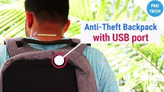 Anti Theft Backpack With USB Charging Port by TechBob | FMJ Tech