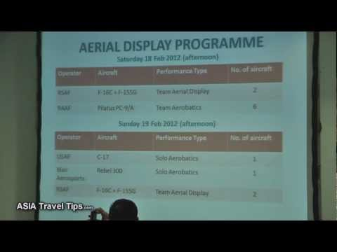 Singapore Airshow 2012 Pre-Show Media Conference - HD