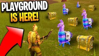 Fortnite Playground LTM - Playground LTM New Fortnite Game Mode Is HERE! (Playground Mode Fortnite)