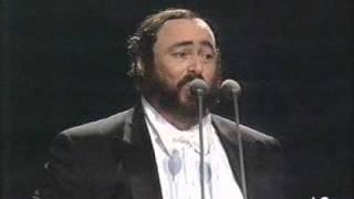 Luciano Pavarotti Video - Luciano Pavarotti - La mia canzone al vento - 1990 - Milano - FIFA concert