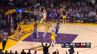 Nba lakers vs 76ers short highlights