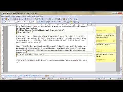 4. Teil Fußnoten mit OpenOffice Writer