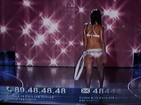 Giulia Marini,Miss Wella Professionals Marche,at Miss Italia 2009.Bikini Catwalks