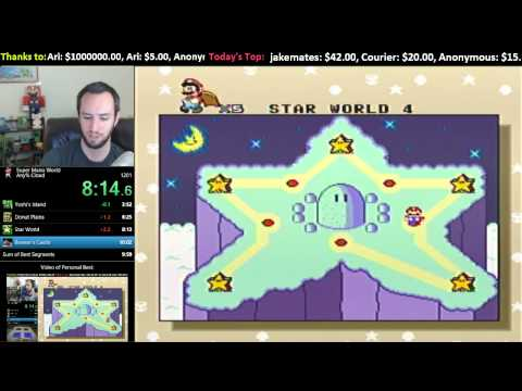 Livestream -- Super Mario World Sub-10 Minute Attempts