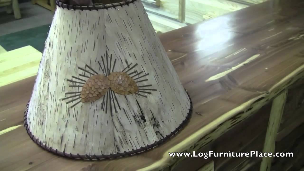 White Birch Bark Amp Pine Cone Lampshade Rustic Decor At