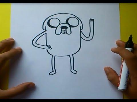 Como dibujar a Jake con cuerpo paso a paso Hora de aventuras How to draw Jake Adventure time