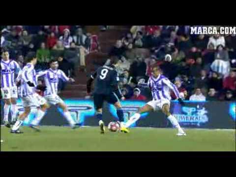 Valladolid 1-Real Madrid 4 All goals & highlights(14/03/2010)