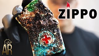 Zippo Lighter Restoration, Vietnam War MEDIC Repair - Ba Ria 72-73