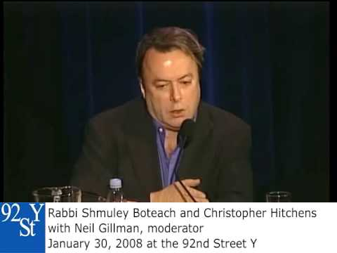 0 Christopher Hitchens, Shmuley Boteach at the 92nd Street Y