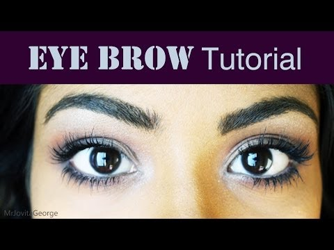 Eyebrow Tutorial - How To Shape, Tweeze And Fill In Eyebrows