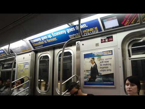 MTA NYC Subway: On Board R160B Siemens (Q) Train from 49th Street to Canal Street