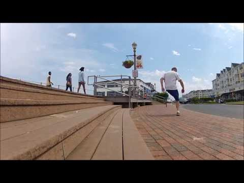 Footbag Stunting On Four Stairs And A Railing video