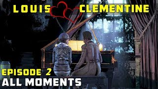 [Louis & Clementine] All Moments from Episode 2 - The Walking Dead (Clem x Louis Romance)