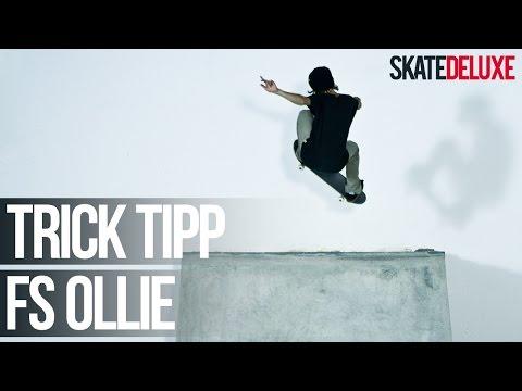 Skateboard Trick Tipp: Frontside Ollie | Deutsch/German | skatedeluxe