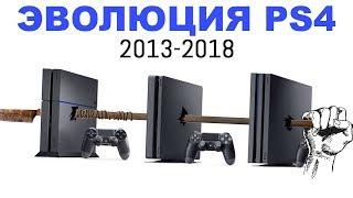 Эволюция PlayStation 4 (2013-2018)