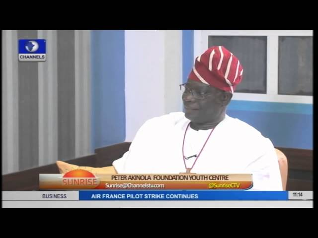 Sunrise: Fmr. Anglican Primate; Peter Akinola Unveils Youth Foundation Centre Pt 2