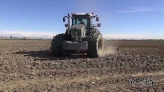 FENDT 936 Black Beauty & Maschio 7 m - Harrowing Rice Fields 2015