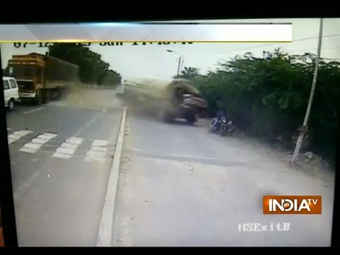 CCTV: Tanker Runs Over A Family In Gujarat | Tragedy Caught on Camera | India Tv