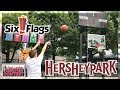 SIX FLAGS & HERSHEY PARKS VLOG! EPIC THREE POINT CONTEST + TALLEST ROLLER COASTER IN THE WORLD!