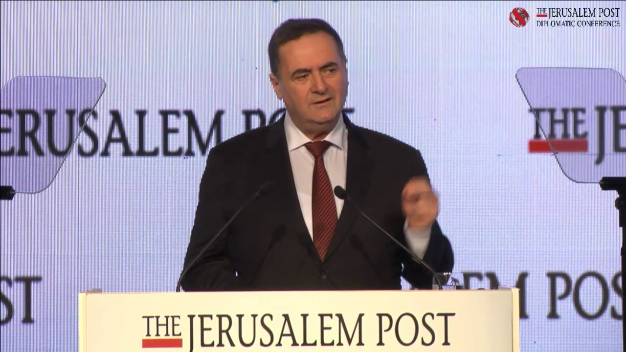 Minister Israel Katz at the 2017 Jerusalem Post Diplomatic Conference, December 6, 2017