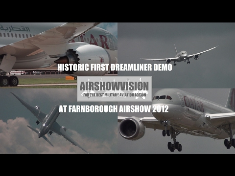 BOEING 787 DREAMLINER AEROBATIC DISPLAY - FARNBOROUGH AIRSHOW 2012 (airshowvision)