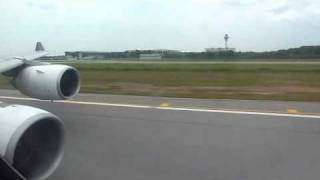 TG416: Takeoff in Sepang from RWY32R - Thai Airbus A340-600 [HS-TNB] leaves Kuala Lumpur