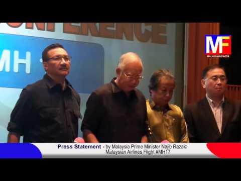 Press Conference MH17 by Malaysia Prime Minister Datuk Seri Najib Razak