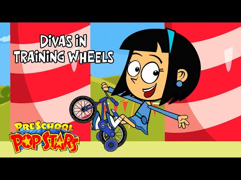 Kids Song - Divas In Training Wheels - Animated Children's Music Rap Video By Preschool Popstars video