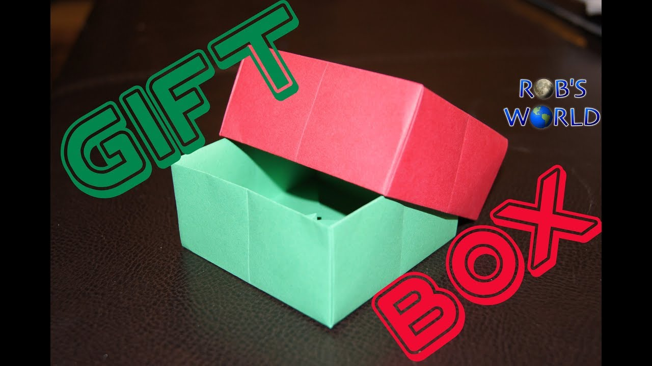 origami gift box with cover easy robs world youtube